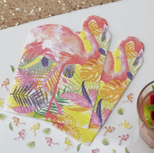 Load image into Gallery viewer, Ginger Ray Flamingo Shaped Napkins
