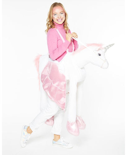 Adult Ride on Unicorn - Adult Costume One Size