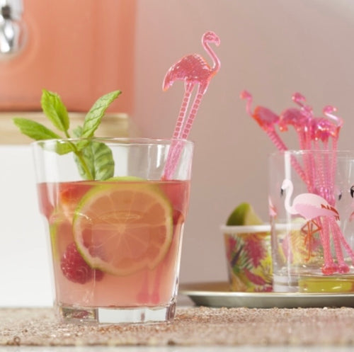 Ginger Ray Hot Pink Flamingo Drink Stirrers