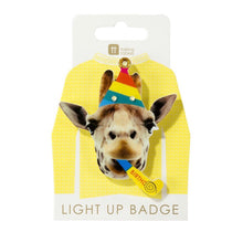 Load image into Gallery viewer, Talking Tables Birthday Brights Giraffe LED Badge