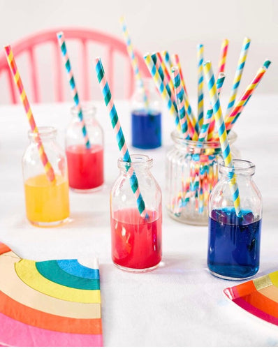 Talking Tables Eco Friendly Birthday Brights Rainbow Straws