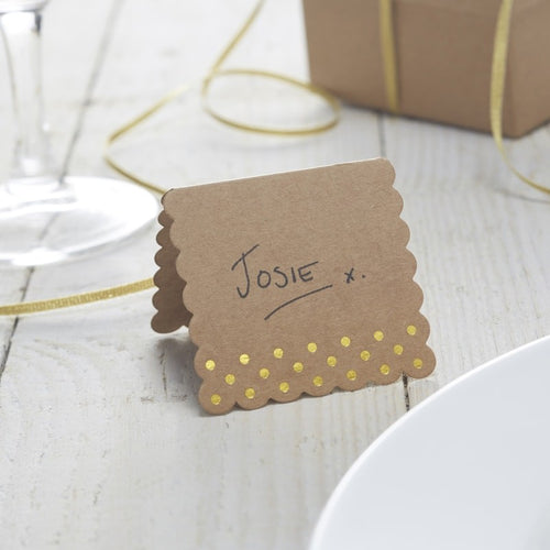 Ginger Ray Gold Foiled Place Cards