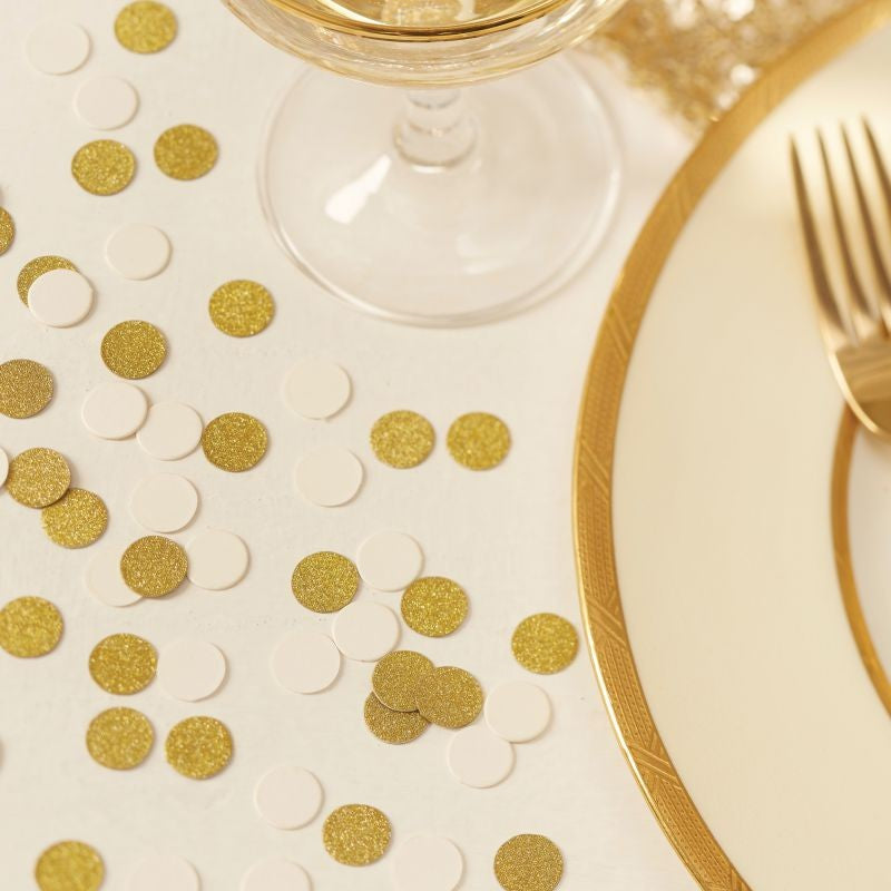 Ginger Ray Ivory & Gold Glitter Table Confetti