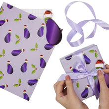 Load image into Gallery viewer, Aubergine Christmas Wrapping Kit