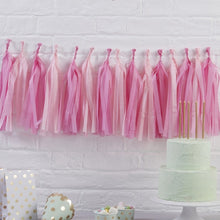 Load image into Gallery viewer, Ginger Ray Pink Tissue Paper Garland Kit