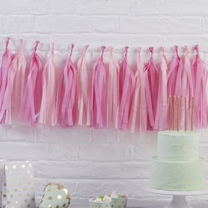 Ginger Ray Pink Tissue Paper Garland Kit