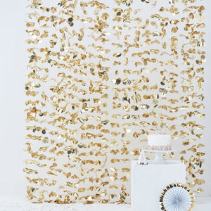 Ginger Ray Gold Photo Booth floral backdrop