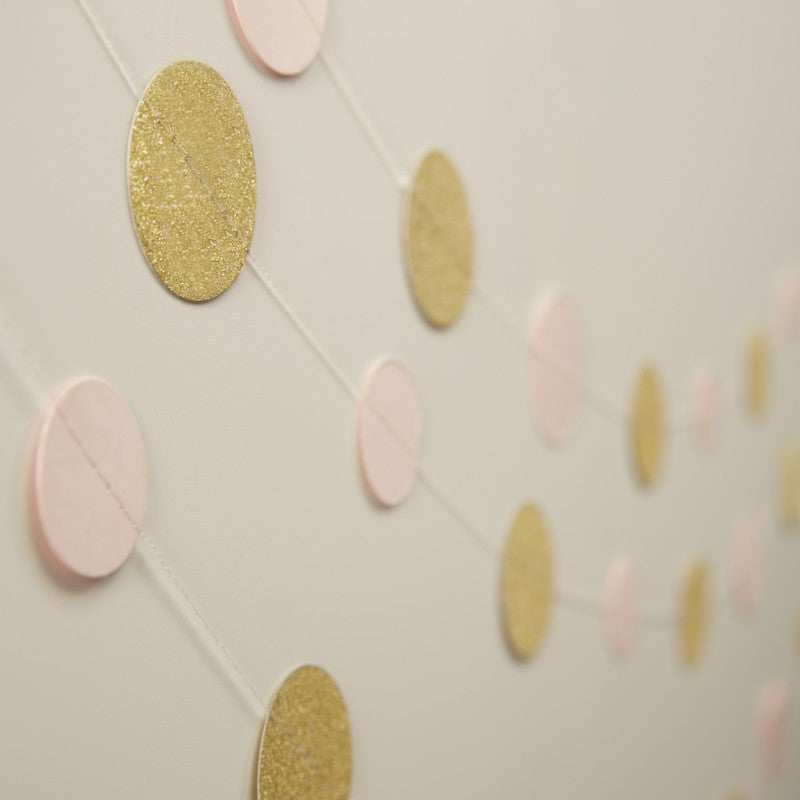 Ginger Ray Pink And Gold Circle Garland