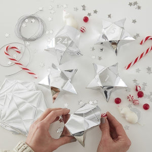 Silver Star Christmas Advent Fill Your Own Boxes