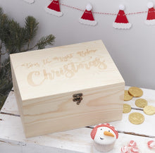 Load image into Gallery viewer, Wooden Christmas Eve Keepsake Box