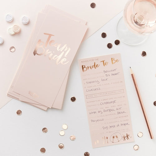 Ginger Ray Pink & Rose Gold Advice For The Bride Cards