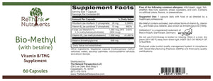 ReThinkOil ReThinkNutrients Bio-Methyl Label