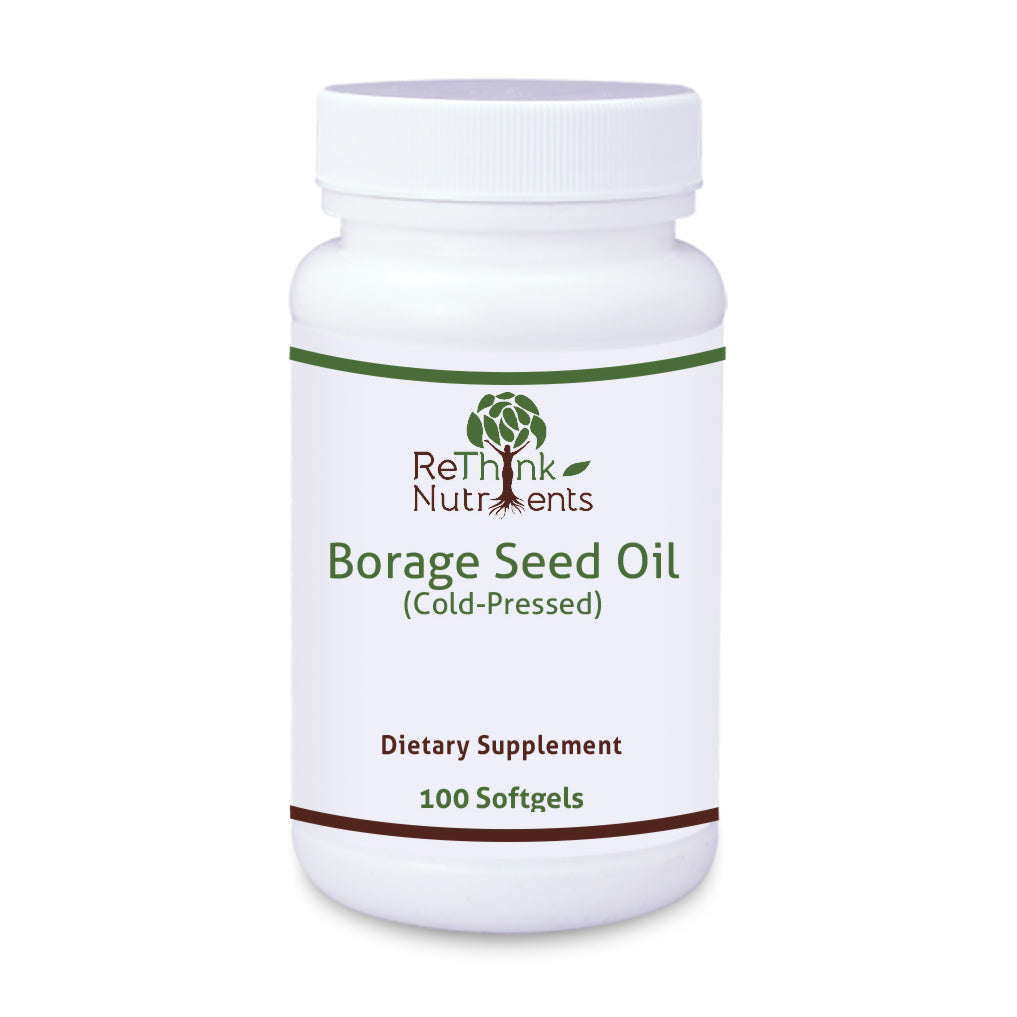 ReThinkOil ReThinkNutrients Borage Seed Oil Bottle