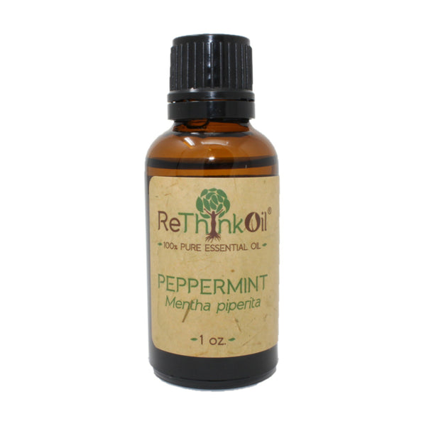 ReThinkOil Peppermint Oil Bottle