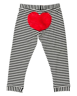 Bottom Heart Leggings 9-12M Left