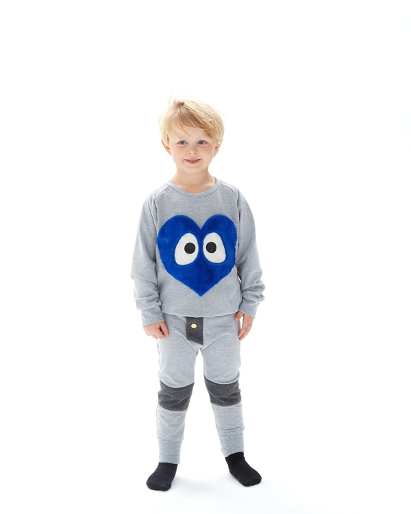 Blue Heart Sweatshirt 6-12 months left