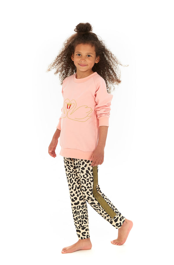 Swan Love Sweatshirt size 2-3 up tp 5-6Y LEFT