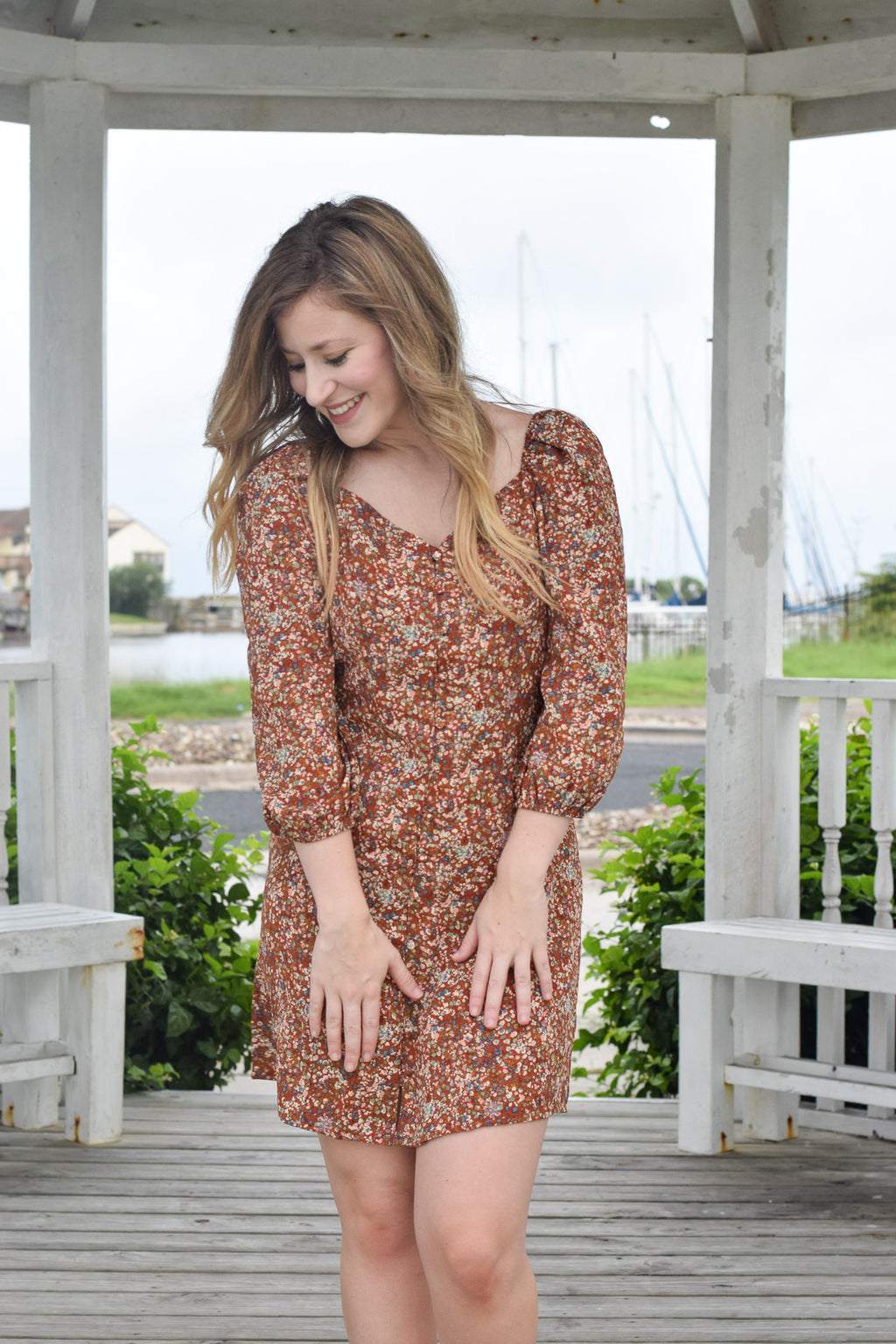 Marlee Floral Button Down Dress
