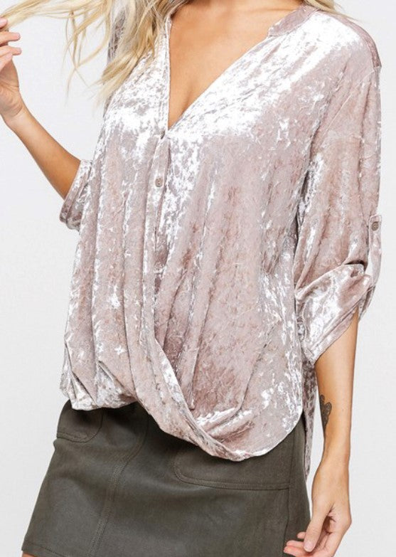 Velvet Taupe High Low Top