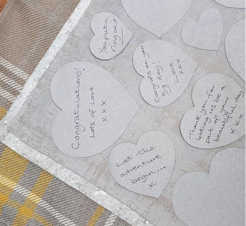 Signed wedding guestbook quilt