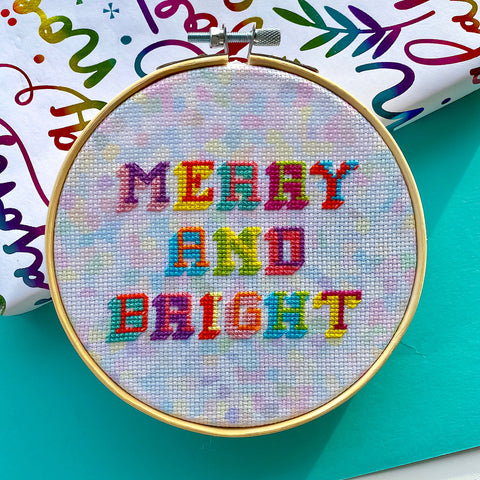 Merry & Bright Christmas Kit - Pulp Stitchin'