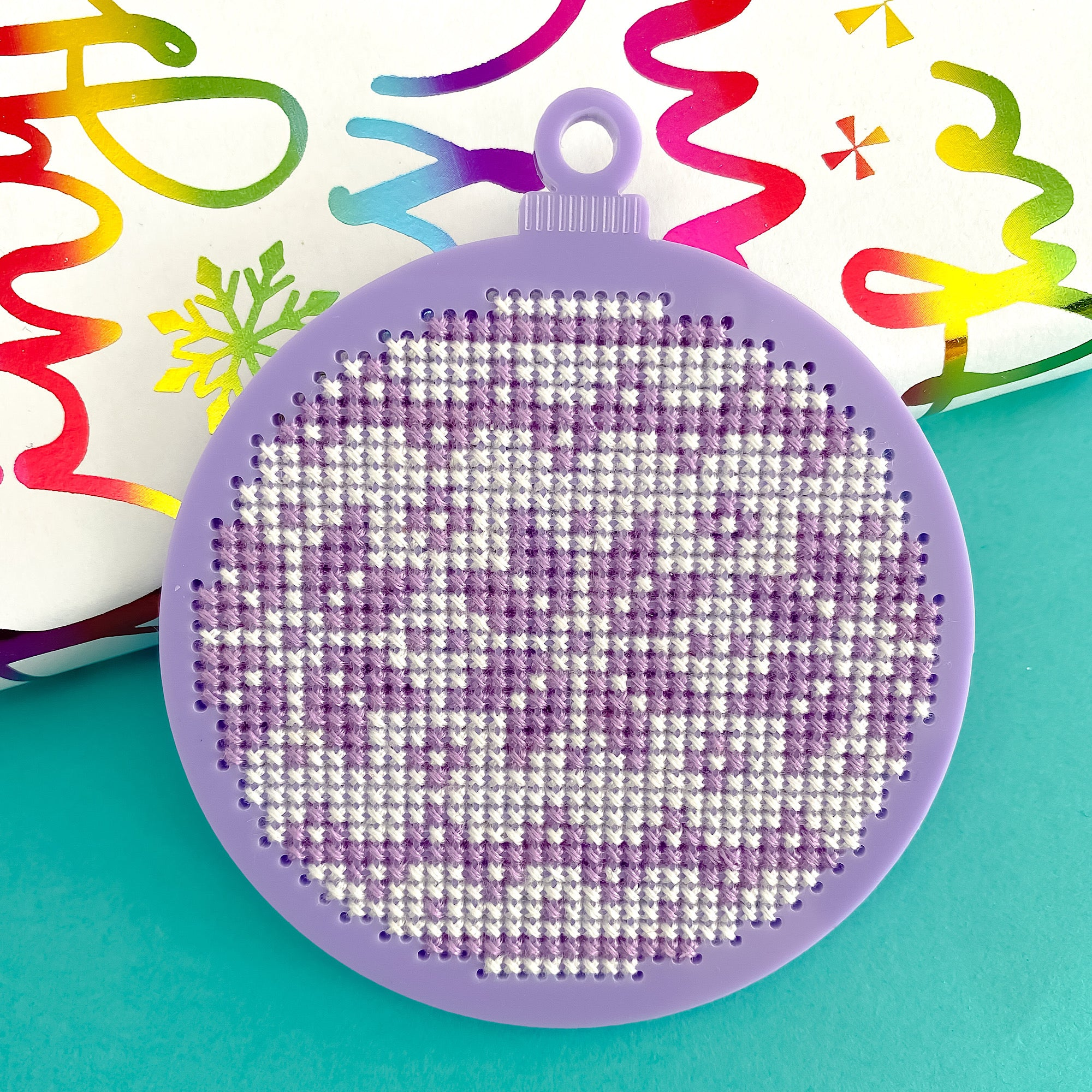 2 Colourful Christmas Bauble Kits - Pulp Stitchin