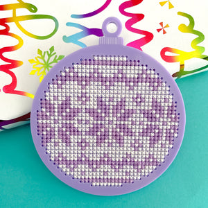 Colourful Christmas Bauble Kit - Pulp Stitchin