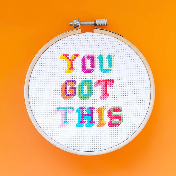 You Got This Cross Stitch Kit - Pulp Stitchin