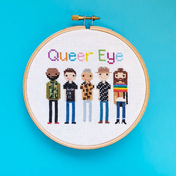 Queer Eye Cross Stitch Kit - Pulp Stitchin'