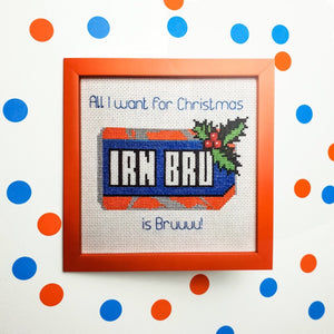 All I Want For Christmas Is Bru Card - Pulp Stitchin