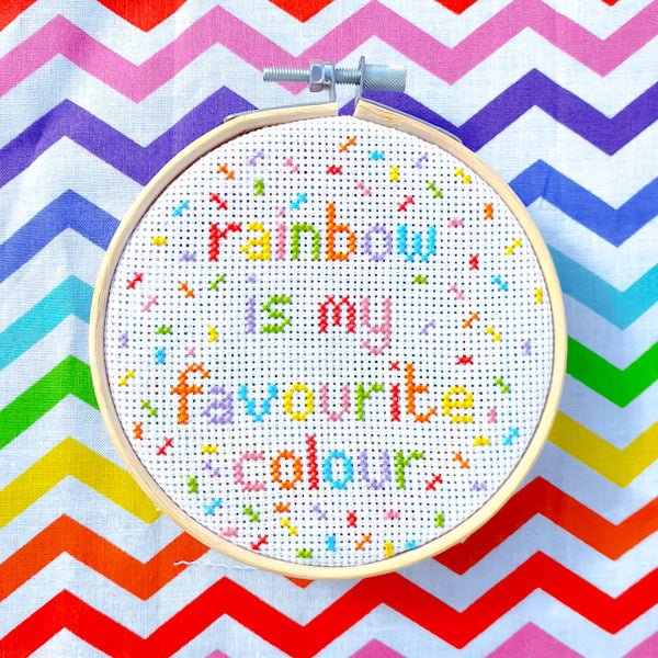 Rainbow is my Favourite Colour Kit - Pulp Stitchin'
