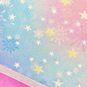 Pastel Snowflake and Stars 14 Count Aida - Pulp Stitchin