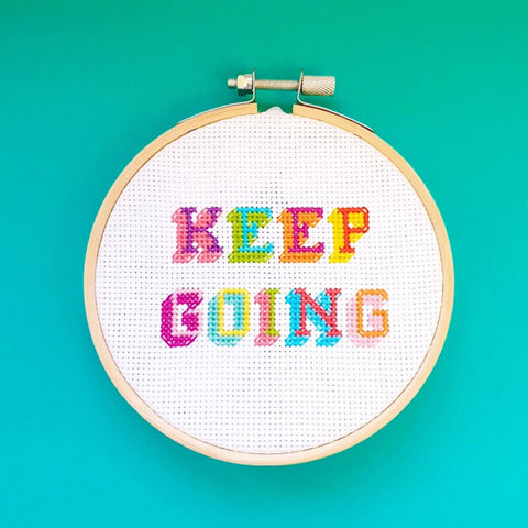 Keep Going Cross Stitch Kit - Pulp Stitchin