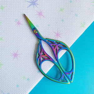 Rainbow Leaf Embroidery Scissors - Pulp Stitchin