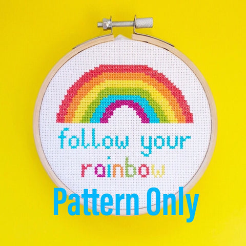 Follow Your Rainbow Pattern - Pulp Stitchin