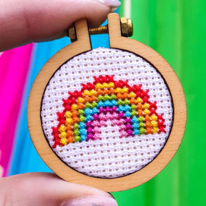 Mini Rainbow Cross Stitch Kit - Pulp Stitchin