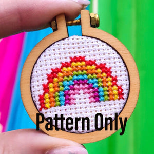 Mini Rainbow Cross Stitch Pattern - Pulp Stitchin'