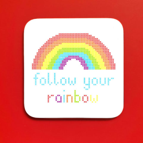 Follow Your Rainbow Coaster - Pulp Stitchin'