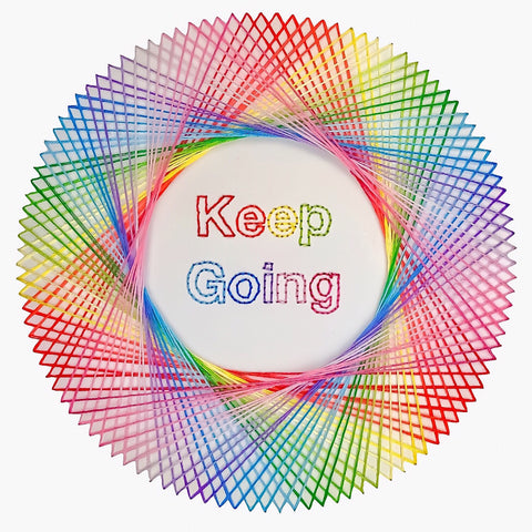 Keep Going Card - Pulp Stitchin
