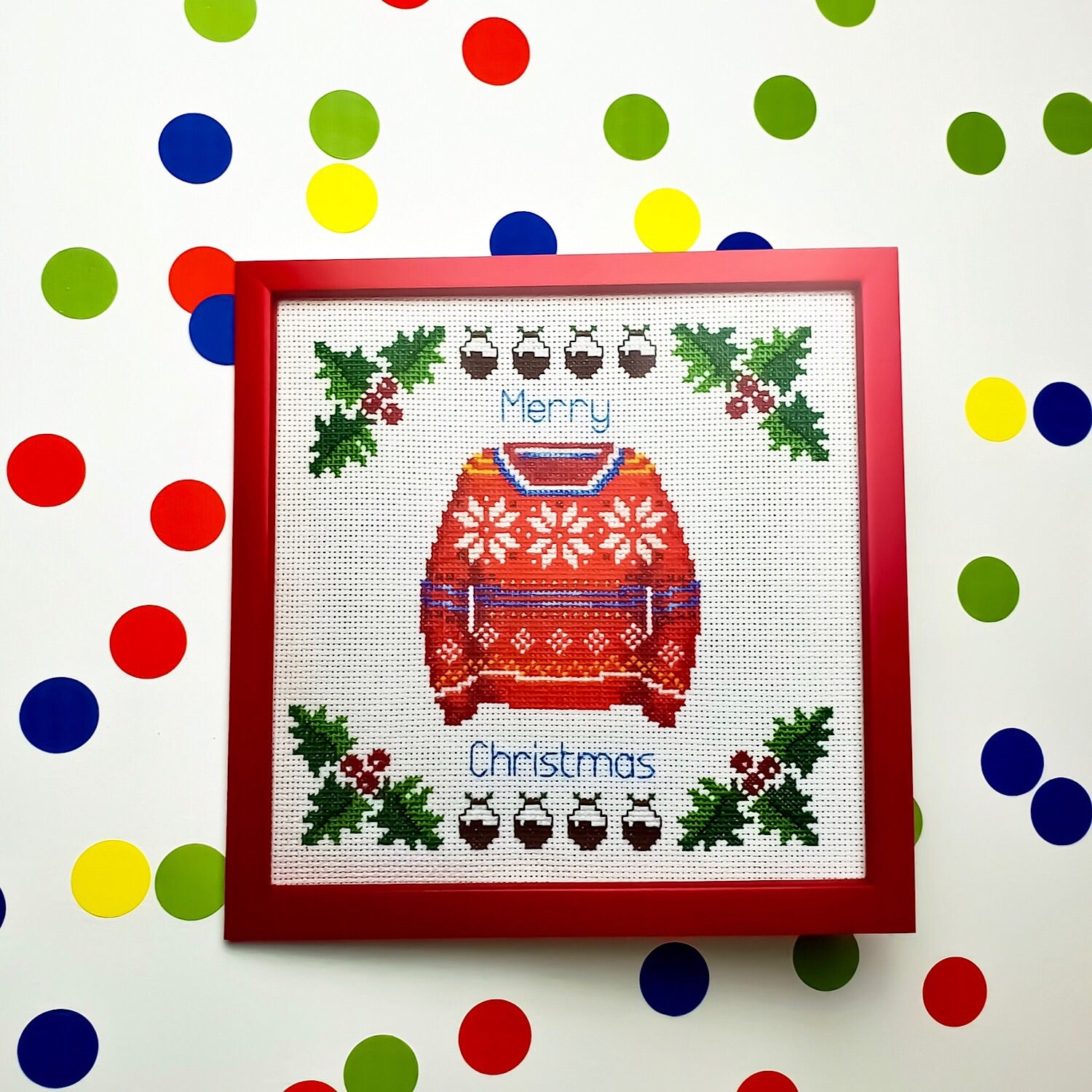 Knitted Christmas Jumper Card - Pulp Stitchin'