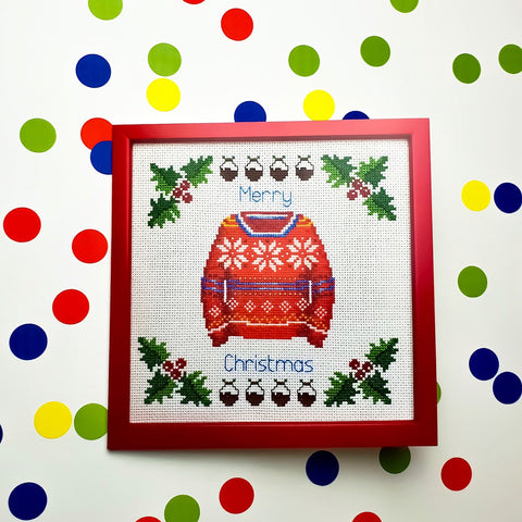Knitted Christmas Jumper Card - Pulp Stitchin