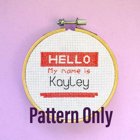Hello, My Name Is... Pattern - Pulp Stitchin