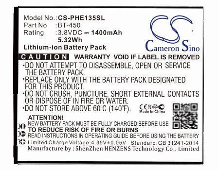 Philips E135x Xenium E135x Replacement Battery