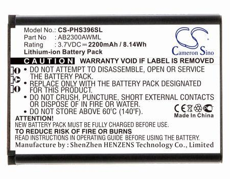Philips S396 Xenium S396 Replacement Battery
