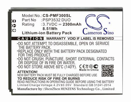 Prestigio Muze A7 Muze F3 PSP3532 DUO PSP7530 DUO Replacement Battery