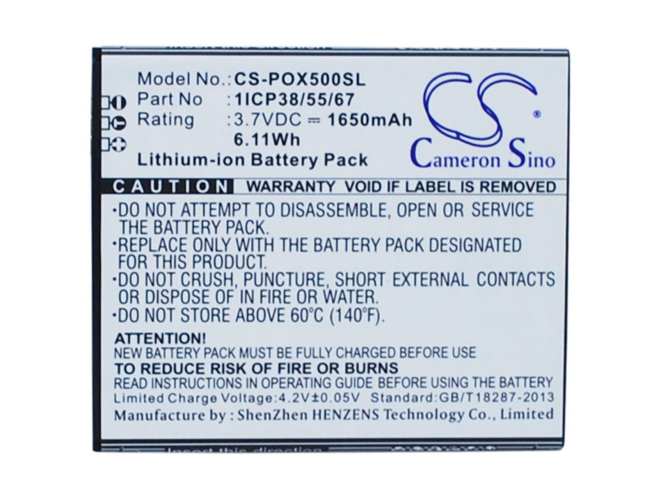 POSH Orion Pro X500a Replacement Battery