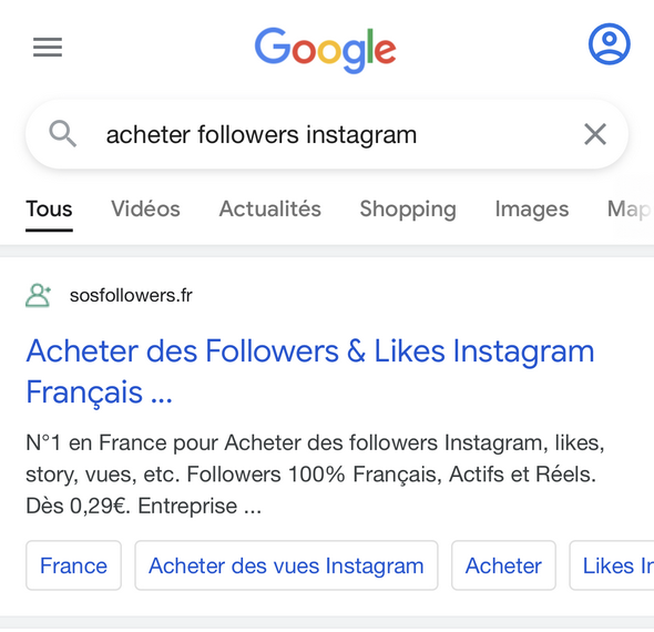 acheter followers instagram