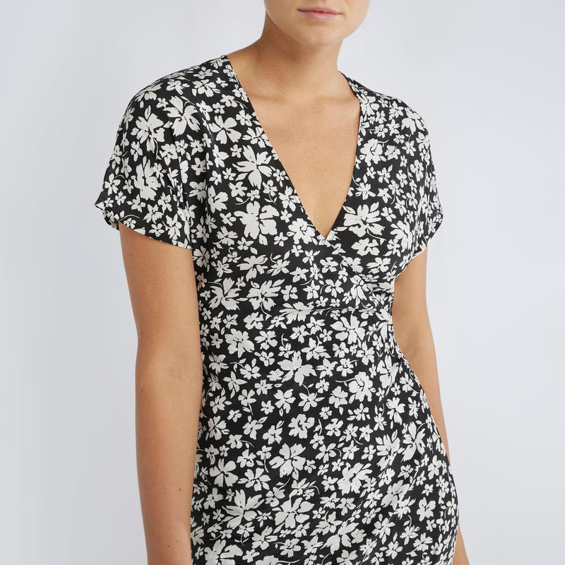 Gemma Dress | Noir Silhouette Floral