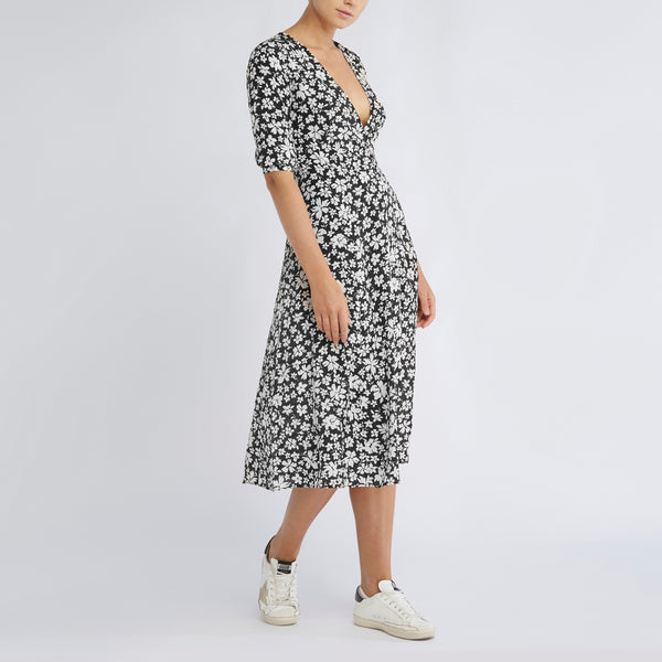 Annika Dress | Noir Silhouette Floral