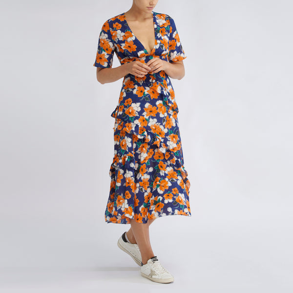 Farrah Dress | Painterly Floral